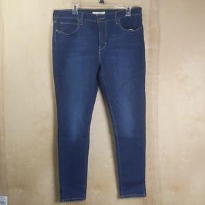 Levi's Dark Wash Super Skinny Blue Jeans 33